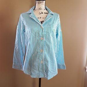Lauren Ralph Lauren Striped Pajama Top size M